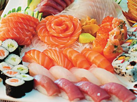 Comida japonesa todos os dias, almoço e jantar. Acompanha rodízio.