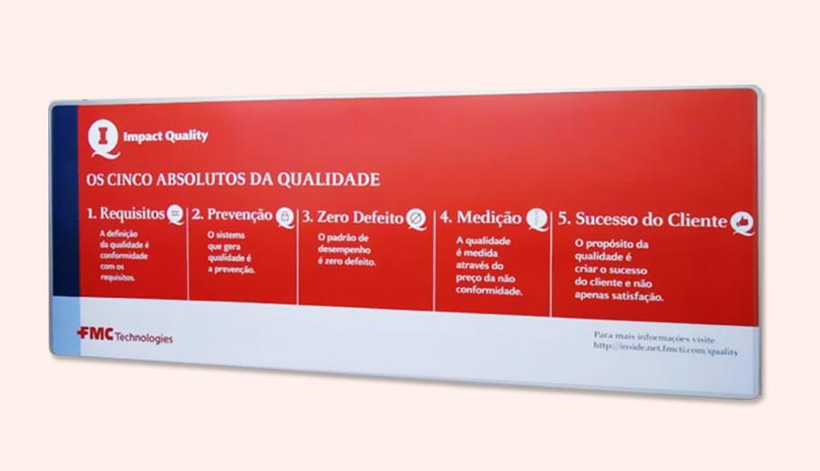 Impressão digital em placa PVC 1mm
