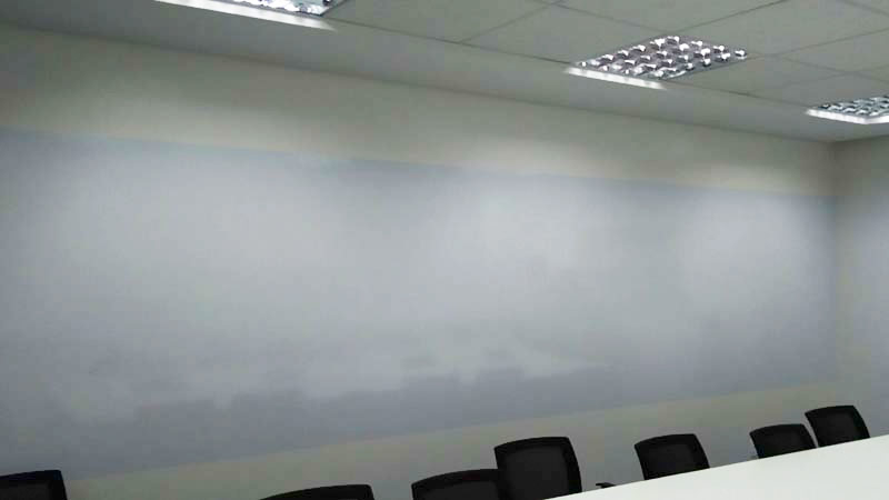 Pelicula aplicada direto na parede 5 metros