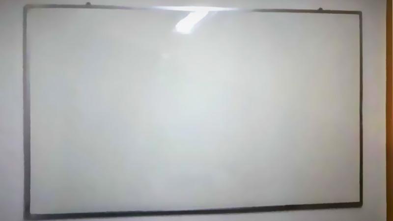 Quadro branco laminado leitoso